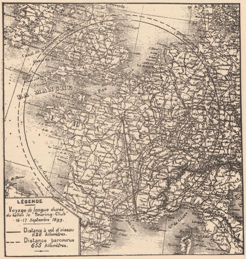 Carte de France et indications kilométriques